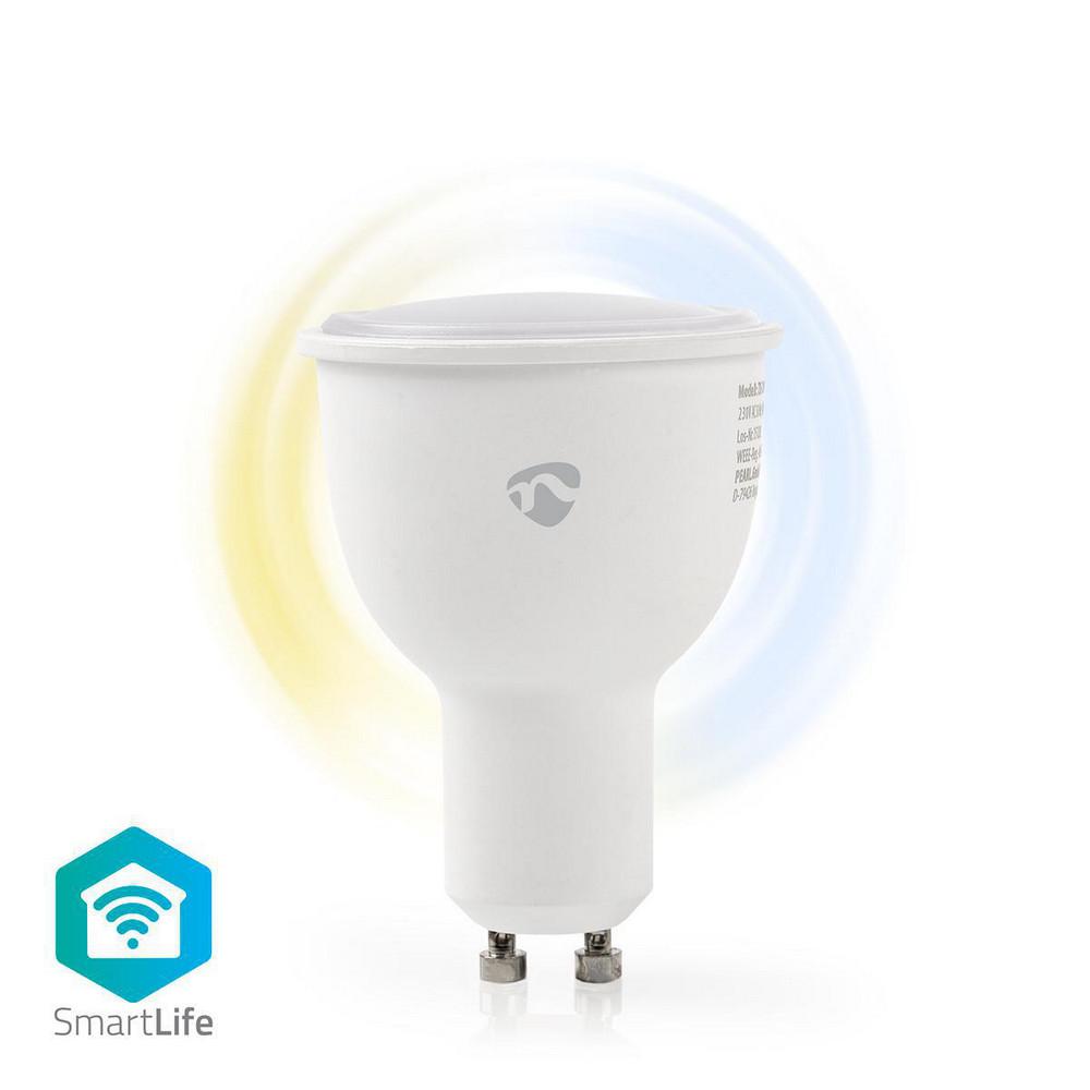 NEDIS WIFILW10WTGU10 WIFI SMART LED BULB FULL COOL AND WARM WHITE GU10 4.5W 380LM