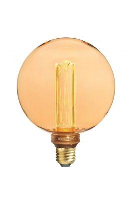 Λάμπα LED Γλόμπος 2,5W 125lm E27 230V 100° 2000K G120 Filament