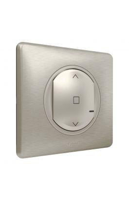 Ασύρματος γενικός διακόπτης ρολών Zigbee/Wi-Fi μπαταρίας Τιτάνιο 067647 Legrand