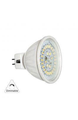 LED SMD MR16 ΚΕΡΑΜΙΚΟ 4W 12VAC/DC 100° DIMMABLE WARM WHITE