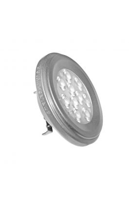 LED SMD AR111 ΑΣΗΜΙ ΑΛΟΥΜΙΝΙΟ 12W 12VAC/DC 36° WARM WHITE