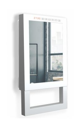 Radialight Quadro Visio Ψηφιακό Αερόθερμο Μπάνιου με Πρόσοψη Καθρέφτη 1800W