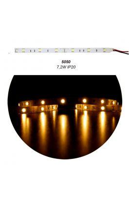 ΤΑΙΝΙΑ LED ΑΥΤΟΚΟΛΛΗΤΗ 5m 12VDC 7,2W/m 30LED/m YELLOW/ORANGE IP20