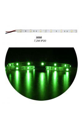 ΤΑΙΝ.LED ΛΕΥΚΗ ΑΥΤ 5m 12VDC 7.2W/m 30LED/m 5050 GREEN IP20