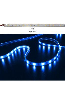 ΤΑΙΝ.LED ΛΕΥΚΗ 5m 12VDC 7.2W/m 30LED/m 5050 ΜΠΛΕ IP67