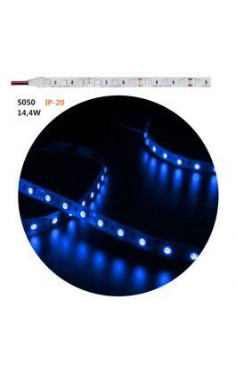 ΤΑΙΝ.LED ΛΕΥΚΗ ΑΥΤ 5m12VDC 14.4W/m 60LED/m 5050 ΜΠΛΕ IP20