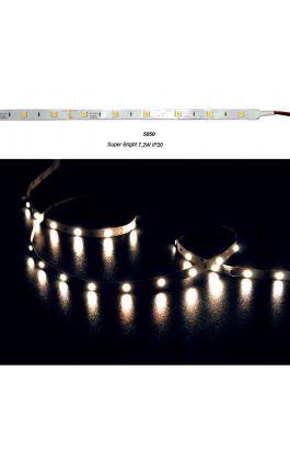 ΤΑΙΝΙΑ LED SUPER BRIGHT ΑΥΤΟΚΟΛΛΗΤΗ 12VDC 7,2W/m 30LED/m WARM IP20
