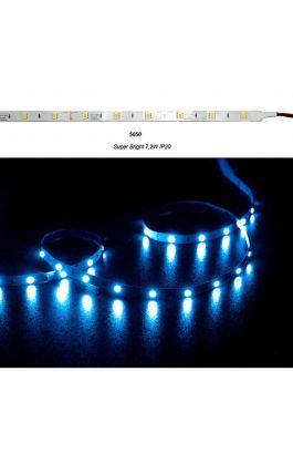 ΤΑΙΝ.LED ΑΥΤ.SUPER BRIGHT 5m 12V 7.2W/m 30LED/m BLUE IP20