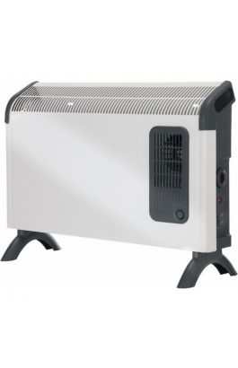 Θερμοπομπός δαπέδου με μηχανικό θερμοστάτη & αερόθερμο ,2kW DX 422Τ