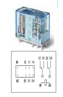 ΜΙΝΙ RΕLΕ  24VDC 2ΠΟΛΙΚΟ  6Α
