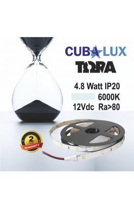 TAINIA 4,8W IP20 12V CW 5500K 5M TORA 50-0001
