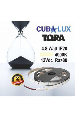 TAINIA 4,8W IP20 12V NW 4000K 5M TORA 50-0002