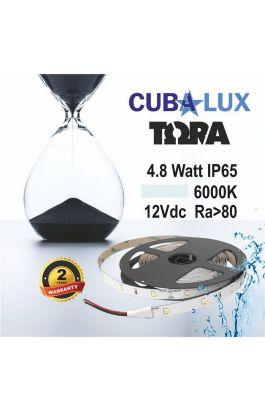 TAINIA 4,8W IP65 12V CW 5500K 5M TORA 50-0004