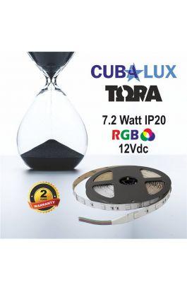 TAINIA 7,2W IP20 12V RGB 5M TORA 50-0027
