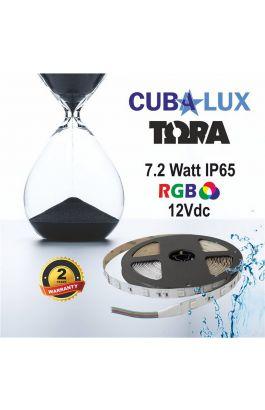 TAINIA 7,2W IP65 12V RGB 5M TORA 50-0041