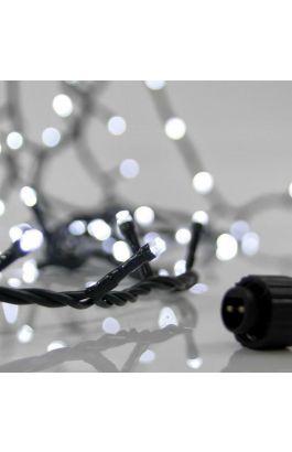 ΣΕΙΡΑ, 100 LED 3mm, 31V, ΕΠΕΚΤΑΣΗ ΕΩΣ 3, ΜΕ ΜΕΤΑΣΧΗΜΑΤΙΣΤΗ, ΠΡΟΕΚΤΑΣΗ ΠΑΡΟΧΗΣ 300cm, ΠΡΑΣΙΝΟ ΚΑΛΩΔΙΟ, ΛΕΥΚΟ LED, ANA 5cm, ΙΡ44