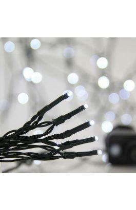ΣΕΙΡΑ, 700 LED 3mm, 31V, 8 ΠΡΟΓΡΑΜΜΑΤΑ, ΜΕΤΑΣΧΗΜΑΤΙΣΤΗ ΜΕ ΜΝΗΜΗ, ΠΡΟΕΚΤΑΣΗ ΠΑΡΟΧΗΣ 300cm, ΠΡΑΣΙΝΟ ΚΑΛΩΔΙΟ, ΛΕΥΚΟ LED,ΑΝΑ 5cm,ΙΡ44