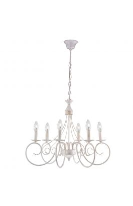 ΚΡΕΜΑΣΤΟ ΦΩΤΙΣΤΙΚΟ Bene White Antique Metal E14 6x40W D:65 H:48-150cm
