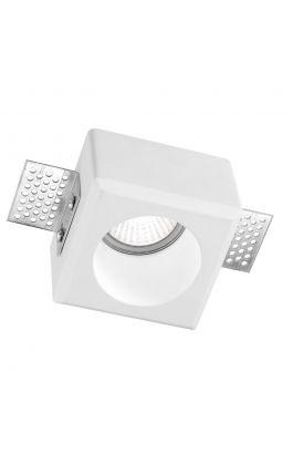 ΓΥΨΙΝΟ ΣΠΟΤ ΦΩΤΙΣΤΙΚΟ Cosimo White Gypsum GU10 1x35 Watt L: 8 W: 8 H: 6 cm Cut Out Size: 8.5 x 8.5 cm