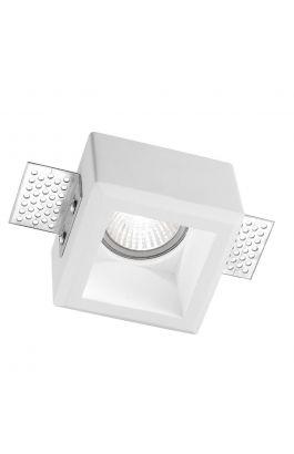 ΓΥΨΙΝΟ ΣΠΟΤ ΦΩΤΙΣΤΙΚΟ Tobia White Gypsum GU10 1x35 Watt L: 8 W: 8 H: 6 cm Cut Out Size 8.5 x 8.5 cm