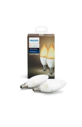 HUE WHITE AMBIANCE 6W B39 CANDLE E14 X2 PACK (2X BULB - BRIDGE NOT INCLUDED)