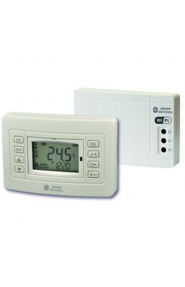 Ασύρματος Προγραμματιζόμενος WIFI θερμοστάτης χώρου με έξοδο για καυστήρα