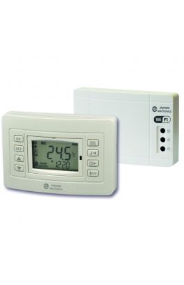 Ασύρματος Προγραμματιζόμενος WIFI θερμοστάτης χώρου με έξοδο για καυστήρα & Boiler
